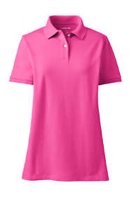 Women's Plus Size Mesh Cotton Short Sleeve Polo Shirt