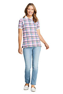 Women's Mesh Cotton Short Sleeve Polo Shirt, Unknown