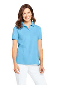 Women's Mesh Cotton Short Sleeve Polo Shirt