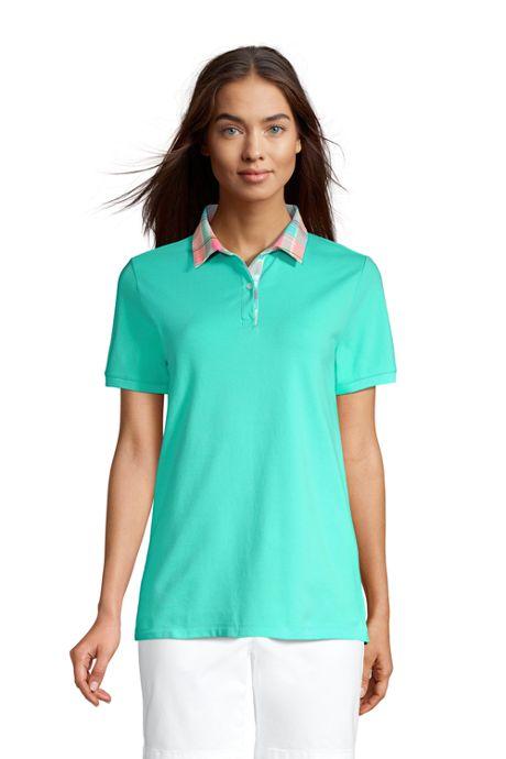 Women's Mesh Cotton Short Sleeve Polo Shirt