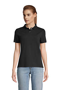 Lands End Womens Mesh Cotton Short Sleeve Polo Shirt