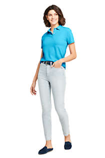 Women's Tall Mesh Cotton Short Sleeve Polo Shirt, Unknown