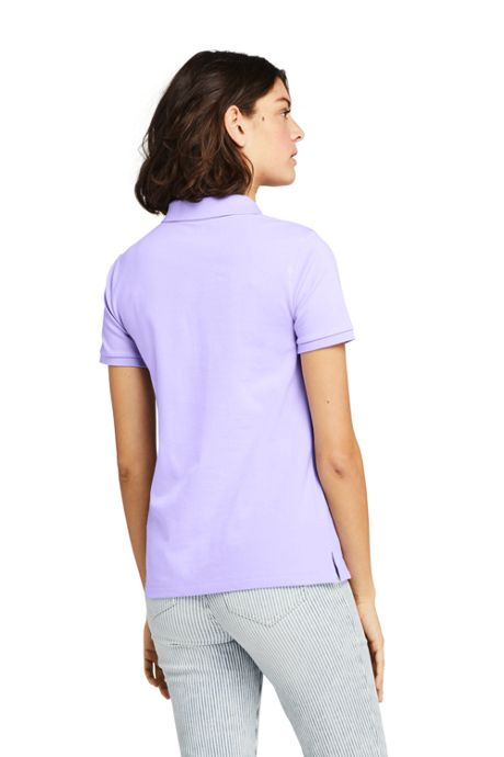 Women's Tall Mesh Cotton Short Sleeve Polo Shirt