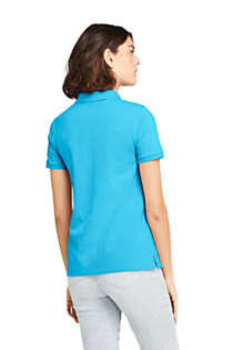Women's Mesh Cotton Short Sleeve Polo Shirt, Back