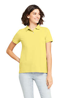 Women's Mesh Cotton Short Sleeve Polo Shirt, Front