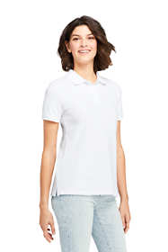 Women's Mesh Cotton Polo Shirt Short Sleeve