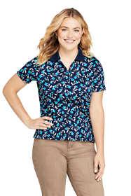 Women's Plus Size Supima Cotton Short Sleeve Polo Shirt Print
