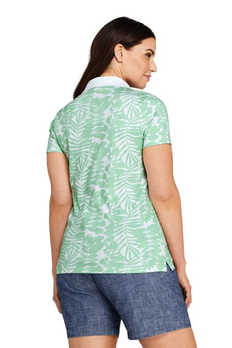 Women's Plus Size Print Supima Cotton Polo Shirt Short Sleeve