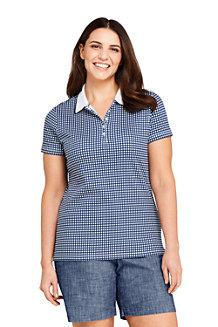 699aec11d9708 Women s Short Sleeve Supima Print Polo Shirt