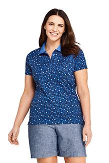575a94901e4717 Supima-Poloshirt Gemustert für Damen