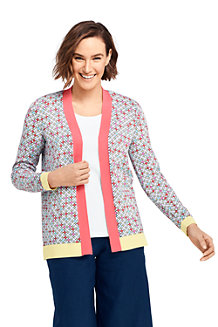 Women's Bandana Supima Cotton Open Cardigan