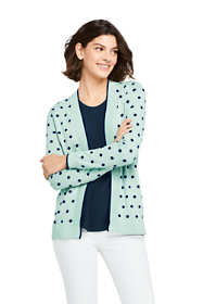 Women's Long Sleeve Open Supima Cardigan Sweater