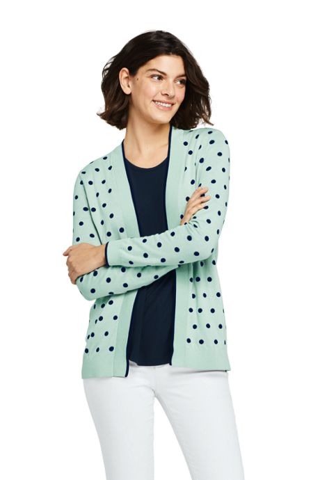 Women's Tall Long Sleeve Open Supima Cardigan Sweater