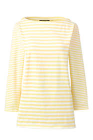 Women's Tall 3/4 Sleeve Stripe Boatneck Top