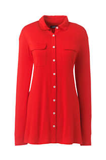 Women's Long Sleeve Button Down Tunic, Front