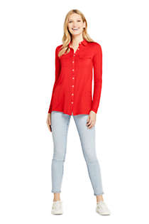 Women's Long Sleeve Button Down Tunic, alternative image