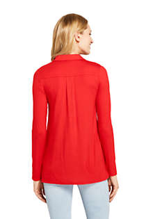 Women's Long Sleeve Button Down Tunic, Back
