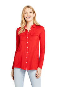 Women's Long Sleeve Button Down Tunic