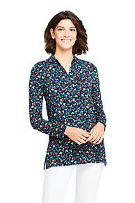 3a0320ec50 Women s Long Sleeve Printed Button Down Tunic