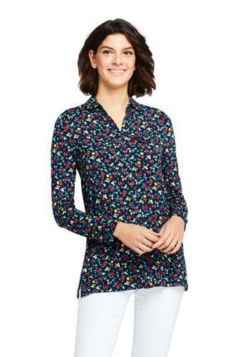 Jerseybluse Gemustert für Damen in Plus-Größe
