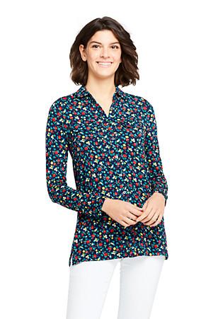 25f3b9634b3 Women's Viscose Print Jersey Tunic Blouse | Lands' End