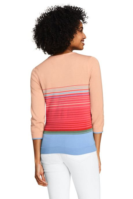 Women's Tall 3/4 Sleeve Supima Cotton Sweater