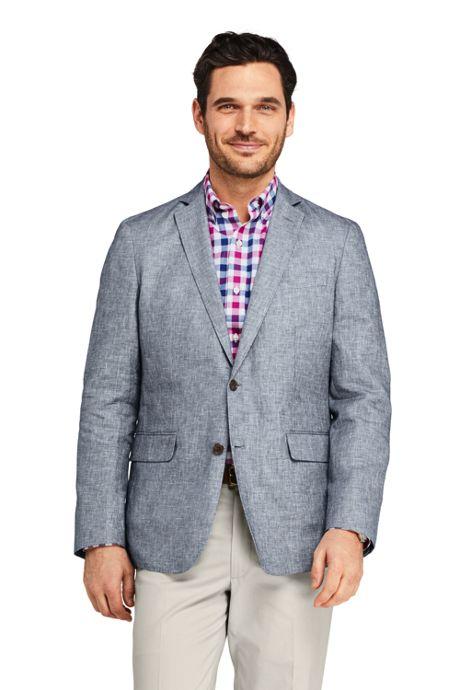 Men's Traditional Fit Linen Cotton Sport Coat