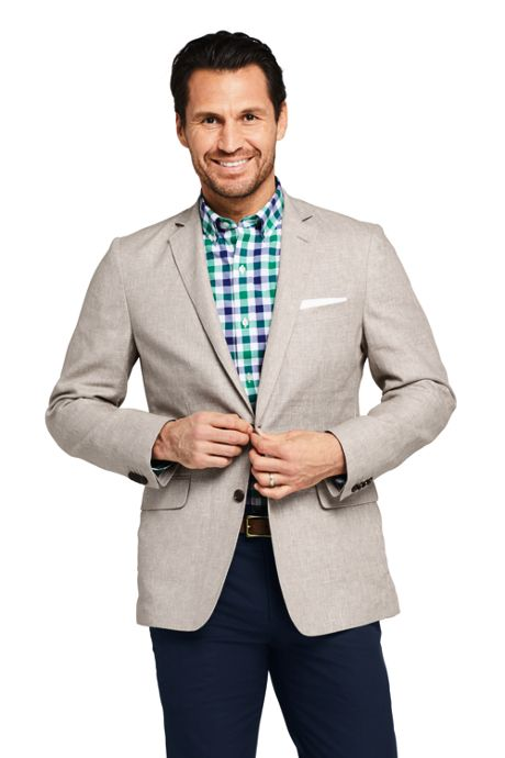 Men's Traditional Fit Linen Cotton Sport Coat