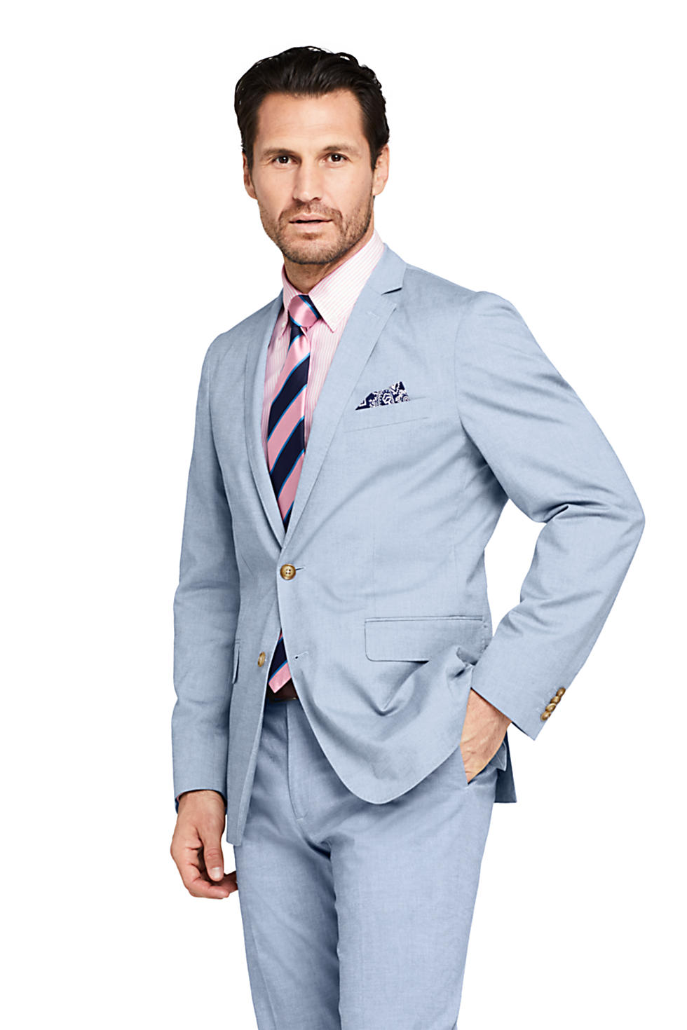 Lands End Mens Traditional Fit Comfort First Cotton Sport Coat