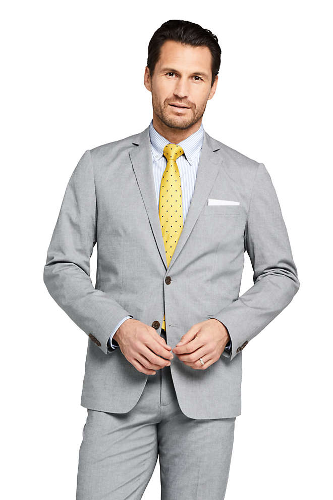 Men's Traditional Fit Comfort First Cotton Oxford Sport Coat, Front