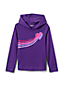 Girls' Cotton Jersey Glitter Print Hoodie