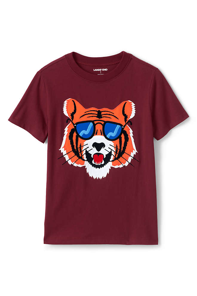 Boys Applique Graphic T Shirt, Front