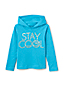 Little Girls' Cotton Jersey Foil Print Hoodie