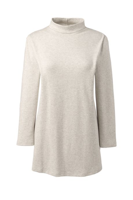 Women's 3/4 Sleeve Mock Neck Tunic