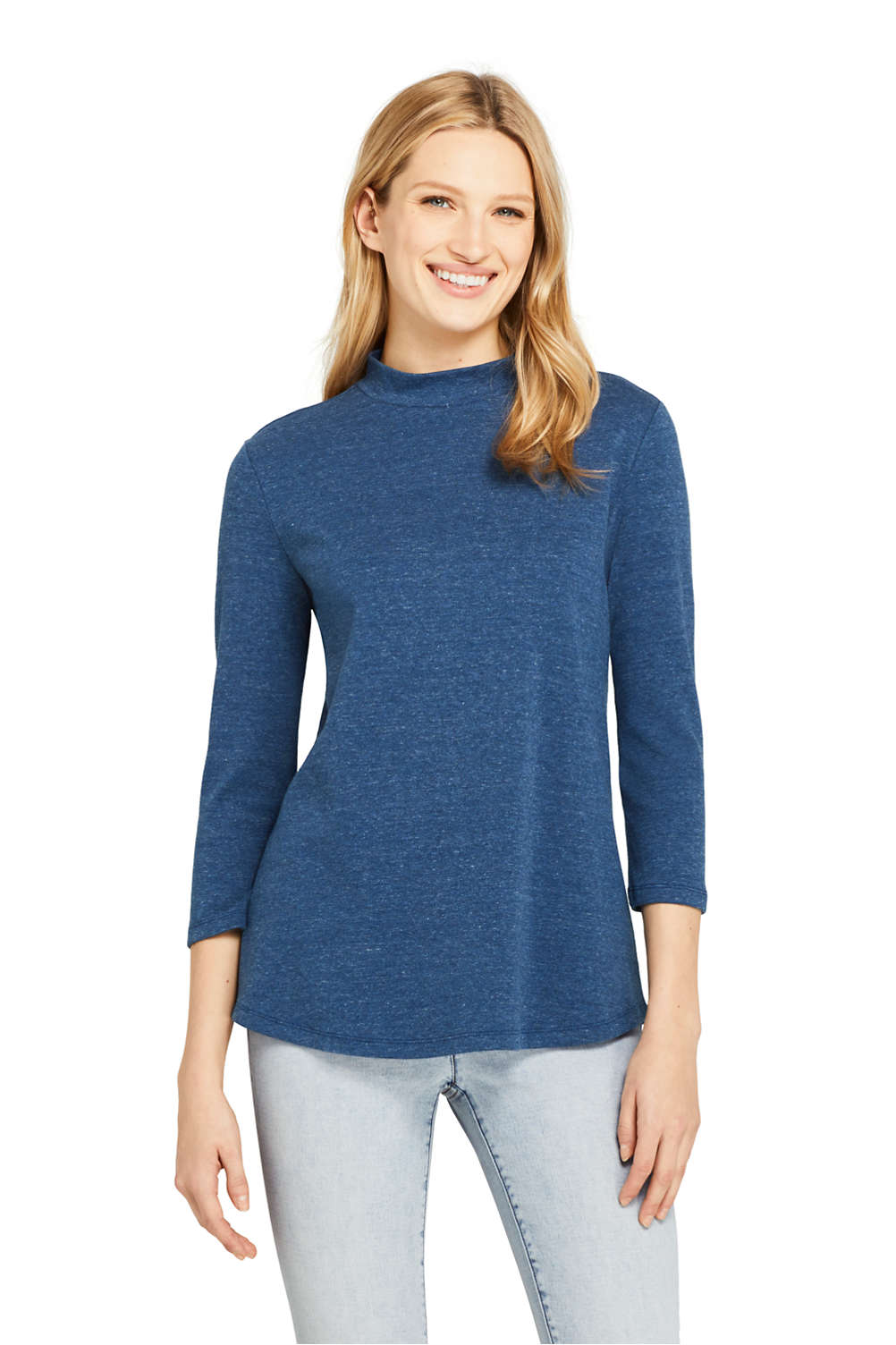1766682dc478 Women's 3/4 Sleeve Mock Neck Tunic from Lands' End