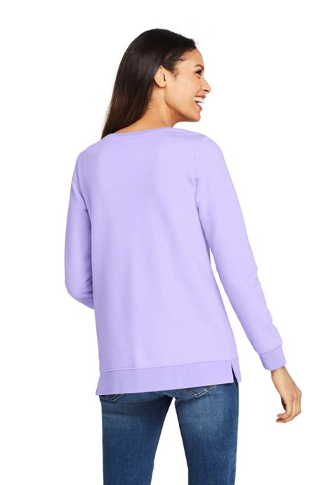 Women's Petite Long Sleeve Sweatshirt Tunic