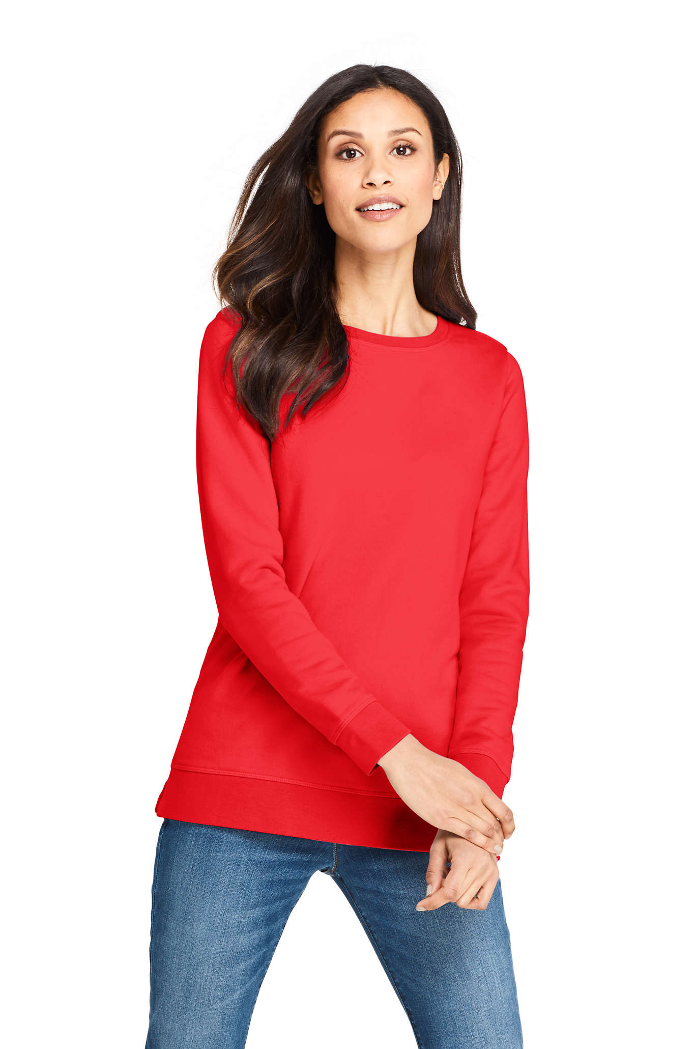 Women's Long Sleeve Sport Knit Jacquard Sweatshirt Tunic
