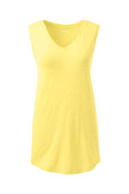 Women's Tall Slub Jersey V-neck Tank Top