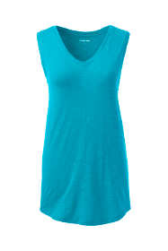 Women's Slub Jersey V-neck Tank Top