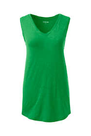 Women's Plus Size Slub Jersey V-neck Tank Top