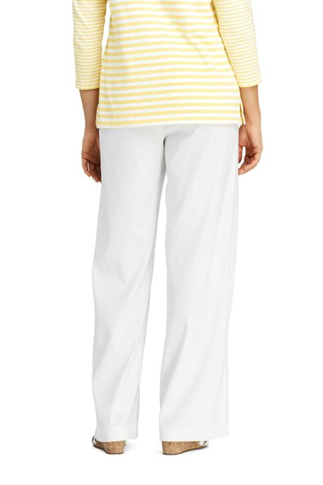 Women's Plus Size Linen Wide Leg Pants