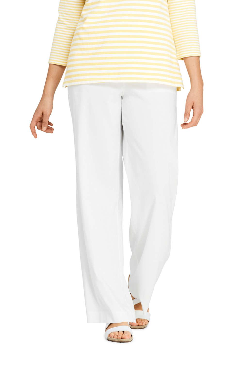 040848efdeb Women s Plus Size Wide Leg Linen Blend Pants from Lands  End
