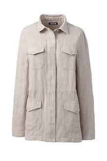 Women's Linen Utility Jacket