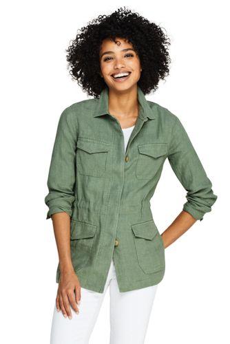 Lässige Leinen Jacke für Damen | Lands' End