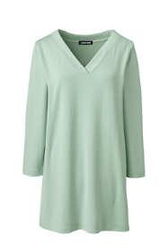 Women's 3/4 Sleeve Matte Jersey V-neck Tunic