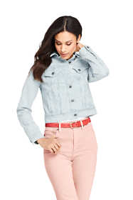 Women's Petite Denim Stripe Jacket