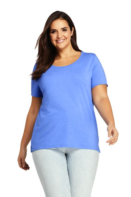 edfe5d4fd Women's Plus Size Short Sleeve UPF Wicking T-shirt · Lands' End ...