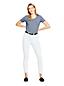 Taillenhohe knöchellange Slim Jeans in Weiß für Damen