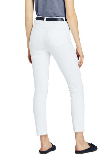 Women's High Rise Straight Leg Ankle Jeans