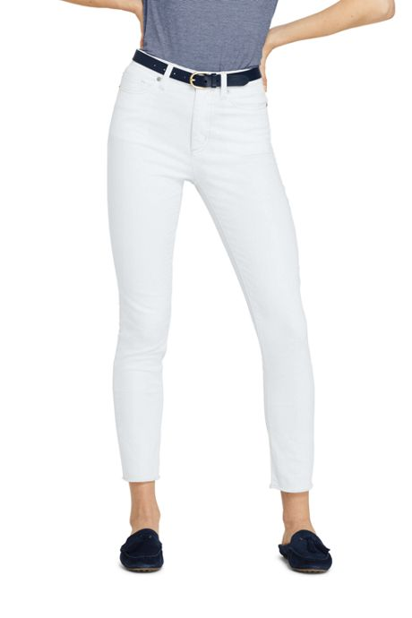 Women's High Rise Slim Straight Leg Ankle Jeans